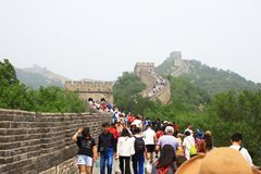 Badaling Great Wall. Is the site of the most visited section of the Great Wall of China, approximately 80 kilometres 50 mi northwest of urban Beijing city in royalty free stock images