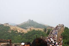 Badaling Great Wall. Is the site of the most visited section of the Great Wall of China, approximately 80 kilometres 50 mi northwest of urban Beijing city in royalty free stock photo