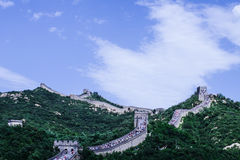 Badaling Great Wall 2. Standing on the beacon tower of Beijing the Badaling Great Wall China Stock Photography