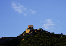 Badaling Great Wall. Standing on the beacon tower of Beijing the Badaling Great Wall China Stock Images