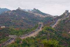 Badaling Great Wall at Weekend in Autumn Stock Images