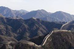 Badaling Great Wall in Yanqing County Beijing China built in 1504 during the Ming Dynasty 1015 metres above sea level Stock Photography