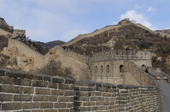 Badaling Great Wall in Yanqing County Beijing China built in 1504 during the Ming Dynasty 1015 metres above sea level Royalty Free Stock Photo