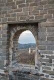 Badaling sida av den stora väggen av Kina arkivfoton