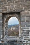 Badaling sida av den stora väggen av Kina royaltyfri foto