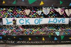 badaling vägg för förälskelse för lås för beijing porslin stor Royaltyfri Foto