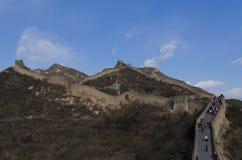 Badaling wielki mur w Yanqing okręgu administracyjnym Pekin Chiny budował w 1504 podczas Ming dynastii 1015 metres nad poziom mor Zdjęcia Stock