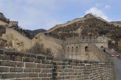Badaling wielki mur w Yanqing okręgu administracyjnym Pekin Chiny budował w 1504 podczas Ming dynastii 1015 metres nad poziom mor Zdjęcie Royalty Free