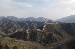 Badaling wielki mur w Yanqing okręgu administracyjnym Pekin Chiny budował w 1504 podczas Ming dynastii 1015 metres nad poziom mor Obrazy Royalty Free