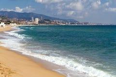 badalona海滩海岸西班牙 图库摄影