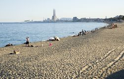 Badalona beach, Spain Stock Photo