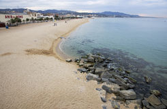 Badalona beach, Spain Royalty Free Stock Images