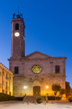 Badalona, Spain. Church of Santa Maria in evening  time Royalty Free Stock Photography