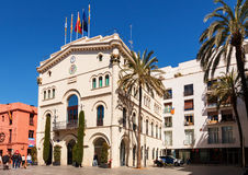 Old Town Hall in Badalona, Catalonia Royalty Free Stock Images