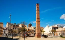 Oude pijp bij historisch deel van Badalona. Spanje Royalty-vrije Stock Foto's