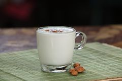 Badam payasam, Badam kheer, Almonds rice pudding stock photo