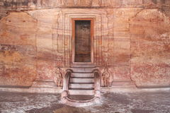 Badami Cave temples inside view, Karnataka, India Royalty Free Stock Images