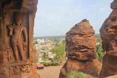 Badami Cave temples, Karnataka, India Royalty Free Stock Photo