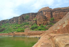 Badami caves,  karnataka, India Royalty Free Stock Photos