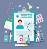 Badania medyczne online lub kontraktacyjny raportowy vecto royalty ilustracja