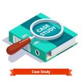 Badania Przypadków pojęcie Powiększać - szkło na dokumencie Zdjęcia Stock