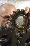 badanie biegu maszyn inżyniera obraz stock
