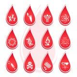 Badanie krwi ikony Zdjęcie Royalty Free