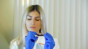 Badanie krwi w górę zbiory wideo