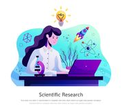 Badanie Naukowe abstrakta skład ilustracja wektor