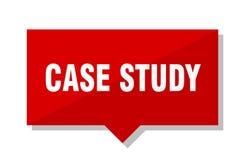 Badanie przypadków czerwona etykietka Obrazy Royalty Free