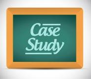 Badanie przypadków pisać na blackboard ilustraci Obrazy Royalty Free