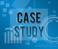 Badanie Przypadków tematu Biznesowy tło ilustracji