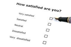 badanie satysfakcji, Fotografia Stock