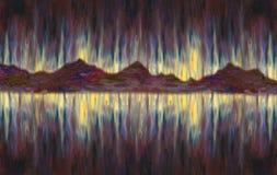 badanie tła obrazu olejnego partii kawałek tekstury tam Fantastyczny abstrakcjonistyczny seascape ilustracja wektor