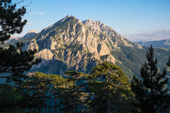 Badanj peak. Mount Volujak, Badanj peak, Sutjeska National Park, Bosnia and Herzegovina Royalty Free Stock Photos