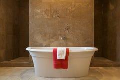 Badar det ensamma ledar- badet för ställningen Arkivfoto