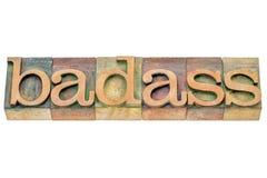 Badass word abstract Stock Photo