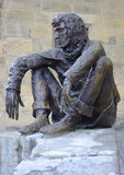 The Badaud statue by Gerard Auliac at the Freedom Square in Sarlat, France Stock Photography