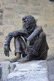 The Badaud statue by Gerard Auliac at the Freedom Square in Sarlat, France Royalty Free Stock Photos