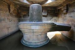 Badavi Linga (Badavlinga) - monolithic Shiva Linga Stock Photography
