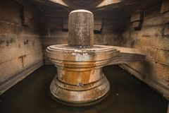 Badavilinga świątynia w indu hampi karnakata zdjęcia stock
