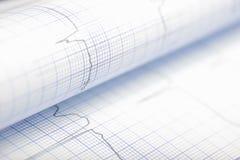 Badawcza grafika na przegiętym papierze Zdjęcie Stock