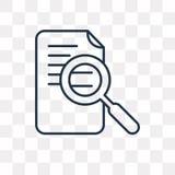 Badawcza wektorowa ikona odizolowywająca na przejrzystym tle, liniowym ilustracja wektor