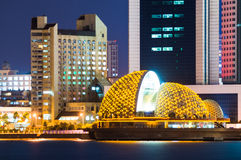 Badaxia District night scenery of Qingdao Royalty Free Stock Photography