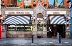 Badbobs bar w świątynia barze, Dublin, Irlandia obraz royalty free