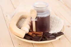 badchoklad royaltyfri fotografi