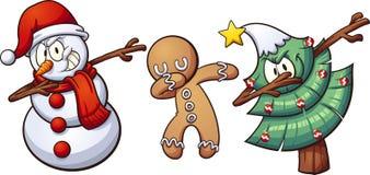 Badda för jul royaltyfri illustrationer