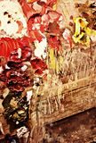 baddar oljemålarfärg arkivbild