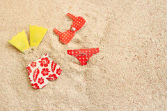 Badeanzüge auf dem Strand Stockbild