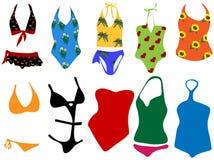 Badeanzüge für Frau Lizenzfreie Stockbilder
